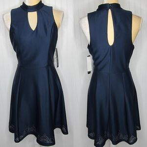 Sequin Hearts Navy Blue Dress NWT